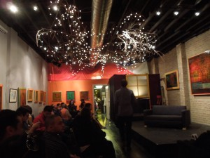 Waiting for Circa Pintig's Apat to begin: Chicago, Mooh Dulce Art Gallery, October 2014
