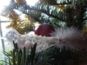 Bird Ornament on Self's Own Christmas Tree  (bought at Filoli last year)
