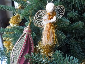 Straw Angels: They were a present from Ying, who passed away Sept. 11, 2008.