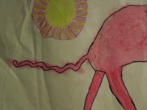 A Crayon Drawing Son Made When He was About Five