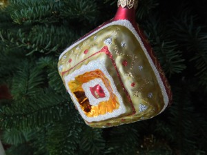 One of Hundreds of Christmas Ornaments Self Has Collected Over the Years