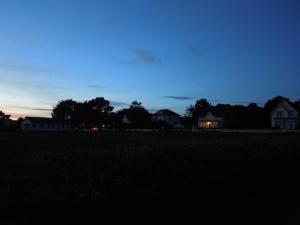 Mendocino, just after dark