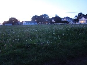 Evening, Mendocino Village: Walking home from the post office