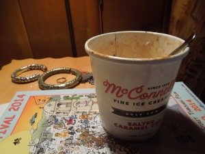 Depths of Depravity: Self has been known to eat a whole quart of ice cream in one sitting. As she did in Ojai.