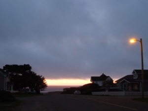 Sunset, Little Lake Street, Mendocino