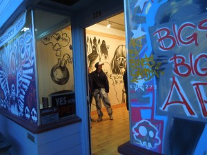 "A Fort Bragg Gallery Dedicated to the Graffiti Art of one man, who goes by ""Bones"""