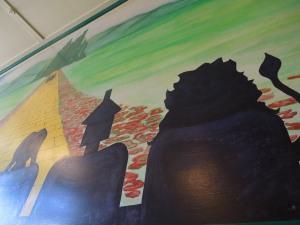 Mural, Egghead's Restaurant, Fort Bragg