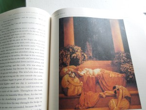 Maxfield Parrish illustration of Sleeping Beauty, published in a 1912 issue of Collier's Magazine