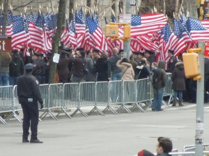 St. Patrick's Day Parade Wall of Flags! Viewed from the steps of the Metropolitan Museum