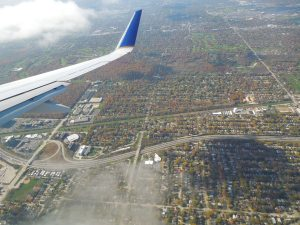 Flying into Chicago, October 2014