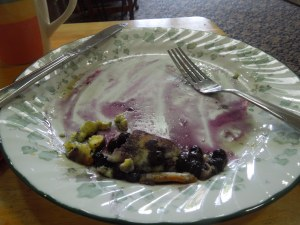 Blueberry Pancakes for Breakfast -- Yummm!
