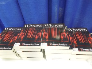 Witness: The Trans/lation Issue, Launched at the AWP Book Fair in Minneapolis, April 2015