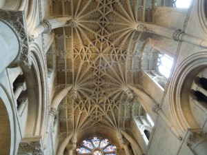 Ceiling of the cathedral of Christ Church, in Oxford, England, May 2014