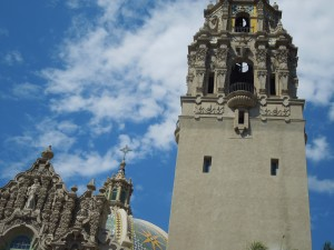 The California Tower is Next to the San Diego Museum of Man.