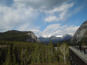 from the Rundle Lounge of the Fairmont Banff Springs Hotel