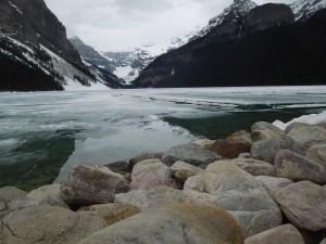 Lake Louise, Still Encased In Ice
