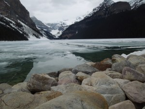 Lake Louise, Still Encased In Ice