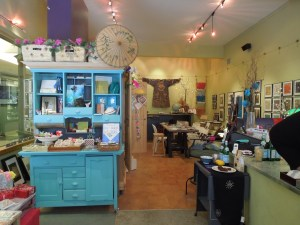 Gingko & Ink, a paper and crafts store on 111 Banff Avenue: The owner of the store taught the bookmaking class yesterday afternoon.