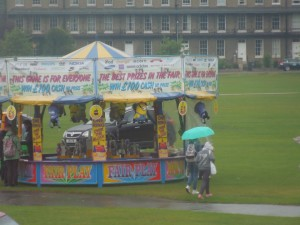 It's no fun being at a carnival when it's raining!