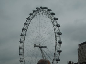The London Eye Viewed from Waterloo Bridge