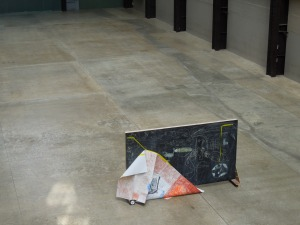 An Art Installation on the Lower Level of the Tate Modern on London's South Bank. Self doesn't know what it means.