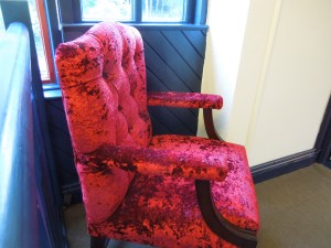 An Armchair in Self's Cottage in the Tyrone Guthrie Centre in Annaghmakerrig