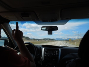 On the Road to Banff with Mike and Pixie: late April 2015