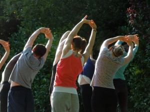 An Afternoon Yoga Class in St. Stephen's Green