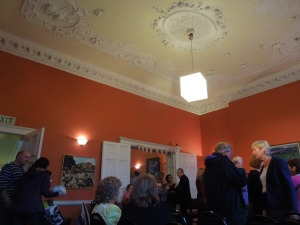 The Irish Writers Centre, 19 Parnell Square, After a reading for the anthology LOST BETWEEN: WRITINGS ON DISPLACEMENT