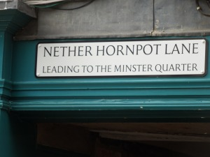 Street signs are so fascinating. This one's in York.