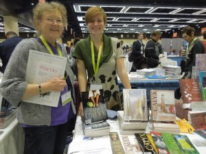 Margarita Donnelly's Last AWP, Seattle 2014. Pictured: Margarita and Brenna Crotty, Calyx Senior Editor