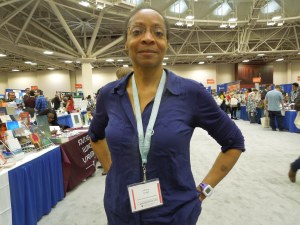 Allison Joseph, Co-Editor of the Crab Orchard Review (which included self's story in the West Coast & Beyond Issue), Photographed at the 2015 AWP Book Fair in Minneapolis.