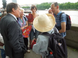 Alan Whitehead, the Southampton MP, meeting with his constituents on Wednesday, June 17, 2015, at the Thames's South Bank