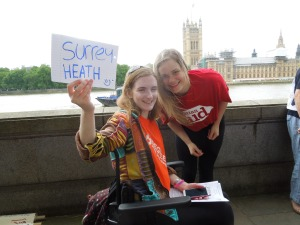 Demonstration for Climate Change: London's South Bank, Wednesday June 17, 2015