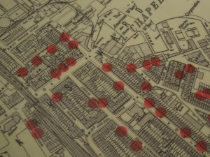 Further Areas of Southampton Showing Homes of the Titanic crew who drowned