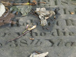 This grave in the cemetery next to the parsonage where the Brontes were raised: the deceased was 38 years old.