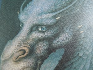 Friend insists the cover of ERAGON shows a female dragon. Why is that a female dragon? Self has no idea. Beautiful artwork, though!