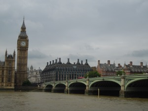 Forget the name of this bridge, but that's Parliament Building on the other end.