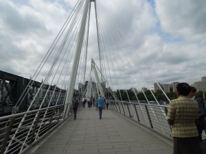 Pedestrian Walkway Over the Thames: London, June 2015