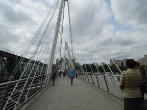 Pedestrian Walkway Over the Thames: London, June 2015