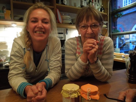 Such a Team! This Mother and Daughter Own Chez Mamie, 22 Hanway Street, London: They're originally from Belgium.