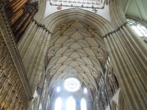 The ceiling of Yorkminster Cathedral is pretty amazing.