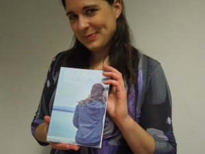 Claire Hennessy, Editor, with the Inaugural Issue of Literary Journal BANSHEE, today at the Cork City Library