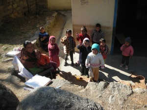 School in Bir, Himachal Pradesh, India: January 2012