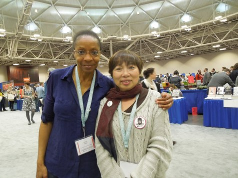 Met the poet and Crab Orchard Review editor Allison Joseph at the AWP Book Fair in Minneapolis, April 2015.