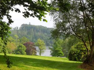 The lake is only a short walk from the main house of the Tyrone Guthrie Centre. She's been back twice.