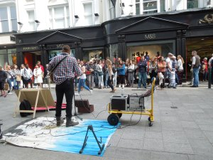 Grafton Street, Dublin, Summer 2015: The street musicians are great.