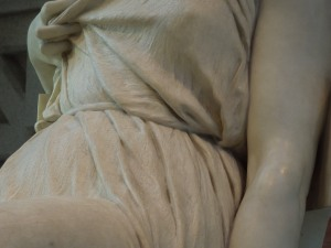 Close-Up Detail of a Statue in the Greek and Roman Antiquities Gallery of the Metropolitan Museum of Art, New York City