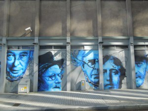 Great Irish writers, commemmorated on a mural in the beautiful city of Cork