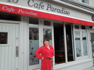 Ger in Front of Café Paradiso, Self's Go-To Restaurant in Cork